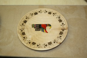 Platter / Woodburned & Colored - George Walker